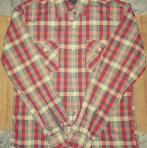 J.Crew Heavy weight redflannel plaid button up Med